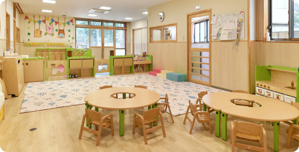 1階 0・1・2歳児保育室
